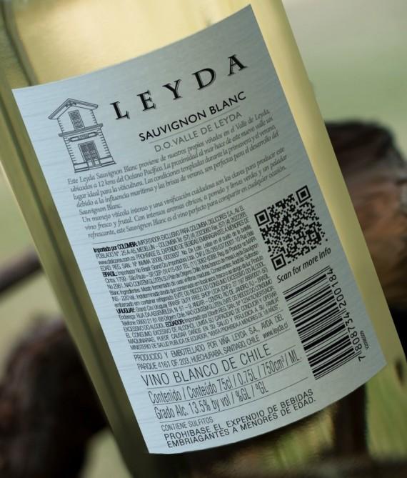 QR code on bottles