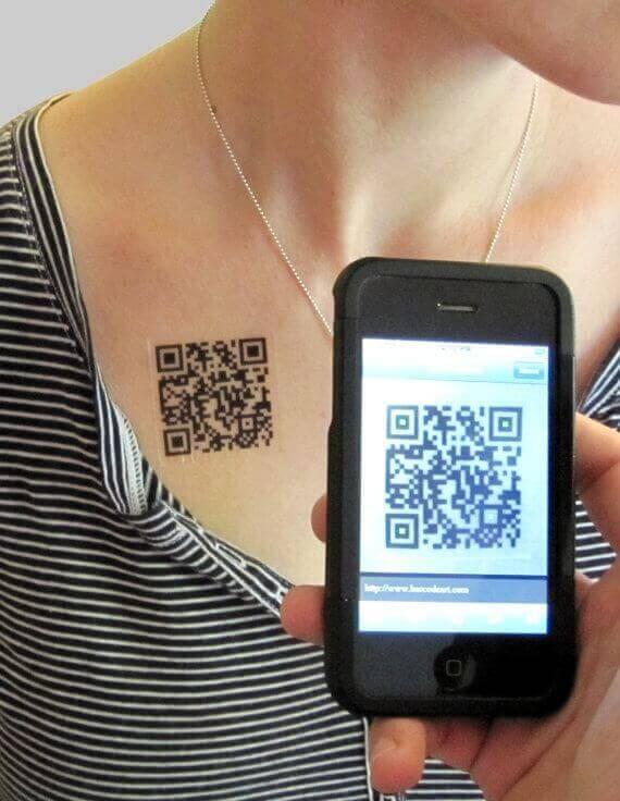 Tattoo QR code