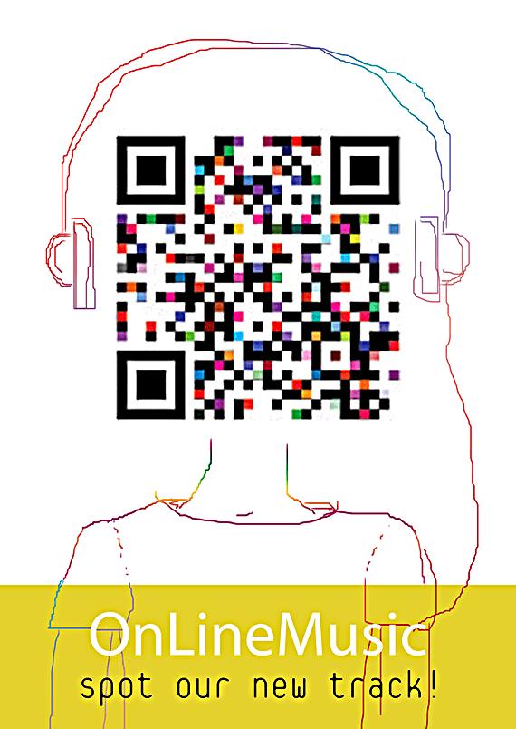 OnlineMusic sticker with QR code