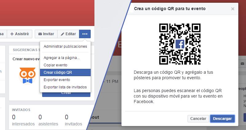 Código QR para tu Evento en Facebook
