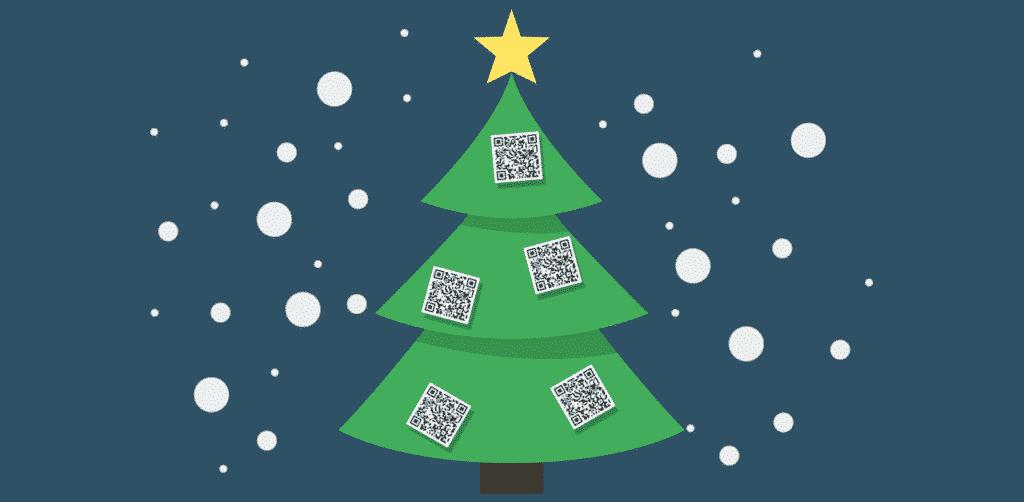 Árbol de navidad con códigos QR