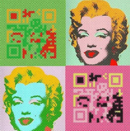 QR code Pop Art