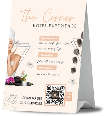 QR code for hotels example